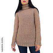 Одежда handmade. Livemaster - original item Sweater female Tenderness, knitted, beige, mohair, wool. Handmade.
