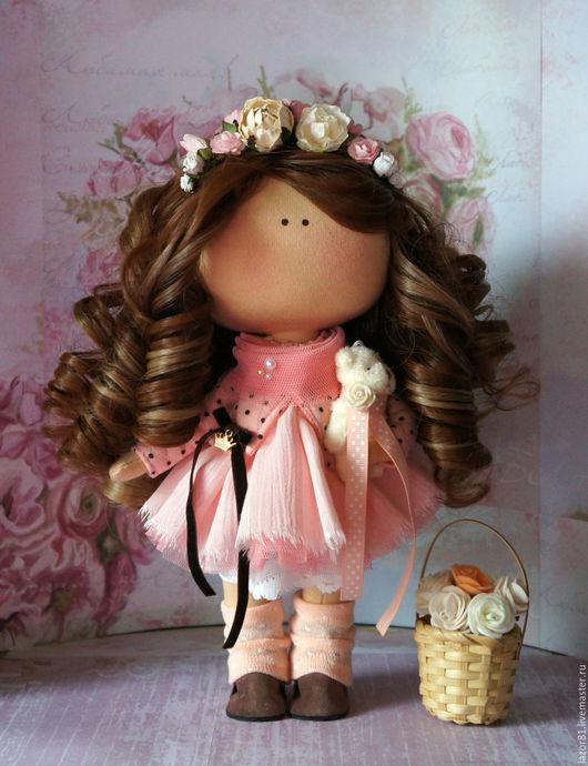 Коллекционные куклы ручной работы. Ярмарка Мастеров - ручная работа. Купить Персик. Handmade. Бежевый, кукла текстильная, интерьер, для девочки