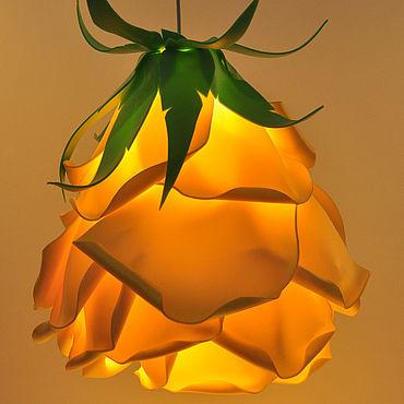 """Подарки к праздникам ручной работы. Ярмарка Мастеров - ручная работа Цветок-светильник """"Роза"""" подвесной. Handmade."""