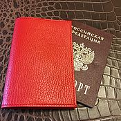 Сумки и аксессуары handmade. Livemaster - original item Cover genuine leather case for passport. Handmade.