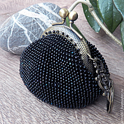 Сумки и аксессуары handmade. Livemaster - original item Coin purse, coin beaded