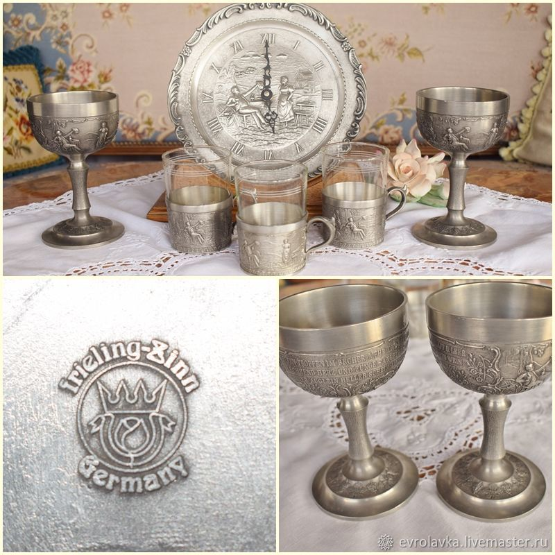 Antique tin set.Germany, Vintage interior, Trier,  Фото №1