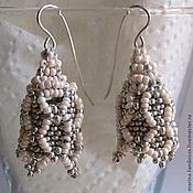 Русский стиль handmade. Livemaster - original item Earrings in the Russian style beaded. Handmade.
