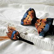 Аксессуары handmade. Livemaster - original item Set of bow tie and boutonniere with pheasant feathers. Handmade.