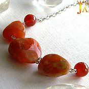 Necklace handmade. Livemaster - original item Necklace with carnelian nuggets. Handmade.