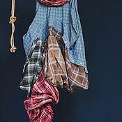 Юбки ручной работы. Ярмарка Мастеров - ручная работа Апсайкл юбка из рубашек. Handmade.