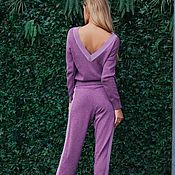 Одежда ручной работы. Ярмарка Мастеров - ручная работа Костюм трансформер с ангорой Фиолетовый. Handmade.