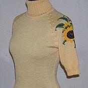 Одежда ручной работы. Ярмарка Мастеров - ручная работа Водолазка с вышивкой. Подсолнухи. Handmade.