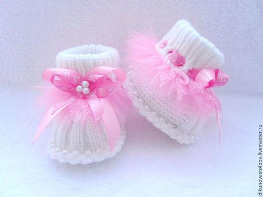 """Для новорожденных, ручной работы. Ярмарка Мастеров - ручная работа. Купить комплект """" Маленькая балерина"""". Handmade. Розовый, балет"""