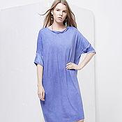 """Одежда handmade. Livemaster - original item Dress-T-shirt """"Blue"""". Handmade."""