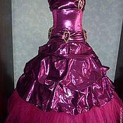 Работы для детей, ручной работы. Ярмарка Мастеров - ручная работа Малиновое платье на девочку 5-8 лет. Handmade.