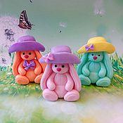 Косметика ручной работы handmade. Livemaster - original item Soap Bunny Mi in a hat. Handmade.