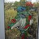 Элементы интерьера ручной работы. Ярмарка Мастеров - ручная работа. Купить Точечная роспись по стеклу Лягушка на окне размер 120 х 60 см.. Handmade.
