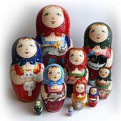 Dolls1 handmade. Livemaster - original item Matreshka 10 places.