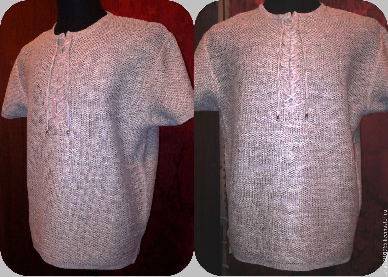 Shirts men: Shirts: 100%linen Men's shirt chain Mail, Mens shirts, Kostroma,  Фото №1