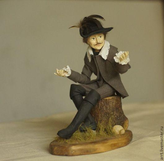 Коллекционные куклы ручной работы. Ярмарка Мастеров - ручная работа. Купить Барон Мюнхгаузен Авторская кукла. Handmade. Серый