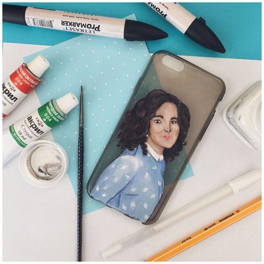 Для телефонов ручной работы. Ярмарка Мастеров - ручная работа. Купить Чехол с вашим портретом. Handmade. Чехол для телефона