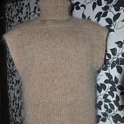 Одежда ручной работы. Ярмарка Мастеров - ручная работа Жилет вязаный пуховый мужской Большой размер. Handmade.