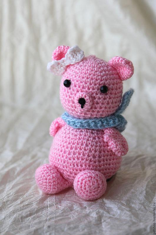 Игрушки животные, ручной работы. Ярмарка Мастеров - ручная работа. Купить Розовый медвежонок. Handmade. Розовый, медведь, медвежонок