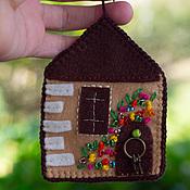 Фен-шуй и эзотерика ручной работы. Ярмарка Мастеров - ручная работа Дом мечты (домик маячок из фетра). Handmade.