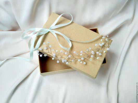 Свадебные украшения ручной работы. Ярмарка Мастеров - ручная работа. Купить Свадебное украшение для волос. Диадема. Handmade. Белый