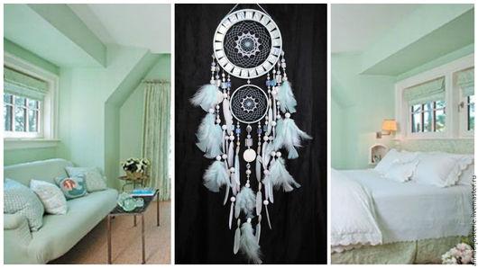 Ловцы снов ручной работы. Ярмарка Мастеров - ручная работа. Купить Dreamcatcher mint mosaic Dream Catcher Large Dreamcatcher New Dream. Handmade.