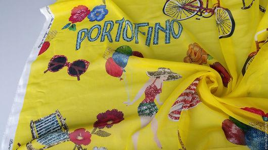 """Шитье ручной работы. Ярмарка Мастеров - ручная работа. Купить Батист-вуаль """"PORTOFINO"""". Dolce&Gabbana. 2 цвета. Handmade. Шелк"""