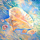 """Натюрморт ручной работы. Ярмарка Мастеров - ручная работа. Купить Картина """"Зов моря"""" синий ракушка ультрамарин морской море. Handmade."""