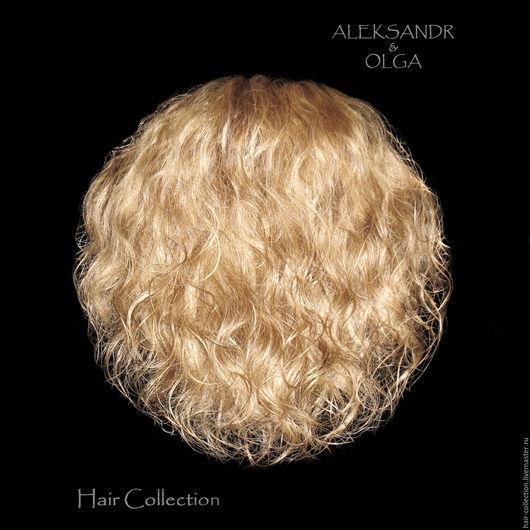 РЕЗИНКА объёмная - шиньон резинка - постиж, мелирование, волнистые волосы (из натуральных славянских волос)