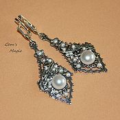 Украшения handmade. Livemaster - original item Earrings Margarita - pearls. Handmade.