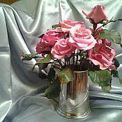 Цветы и флористика ручной работы. Ярмарка Мастеров - ручная работа мои первые розы,полимерная глина.,ручная работа.,японская глина.,подар. Handmade.