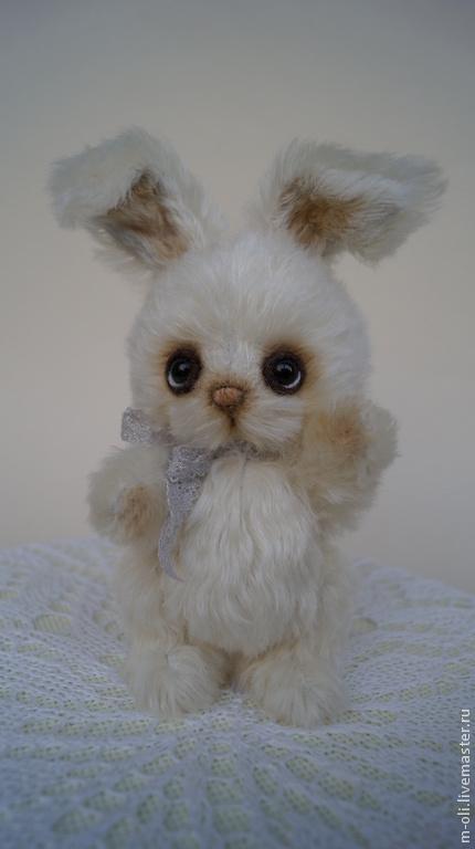 Мишки Тедди ручной работы. Ярмарка Мастеров - ручная работа. Купить зайчик Зая. Handmade. Белый, подарок девушке, шплинты