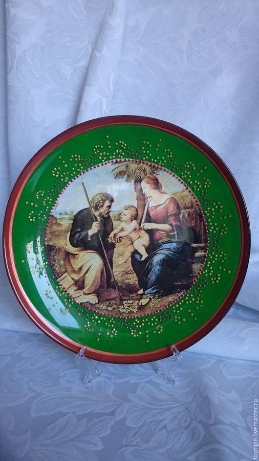 Декоративная посуда ручной работы. Ярмарка Мастеров - ручная работа. Купить Библейская семья. Handmade. Комбинированный, Декупаж
