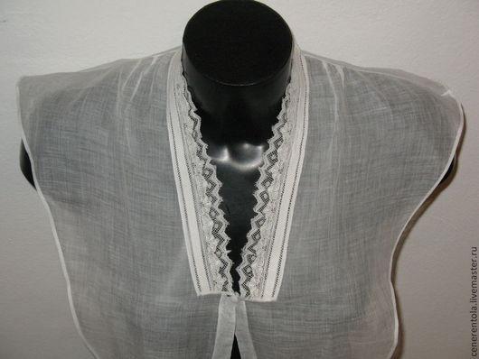Одежда. Ярмарка Мастеров - ручная работа. Купить старинная батистовая манишка с кружевом. Handmade. Белый, батист, батист