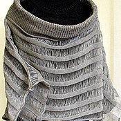 Одежда ручной работы. Ярмарка Мастеров - ручная работа Топ туника льняная Свитер Одежда натурально серая. Handmade.