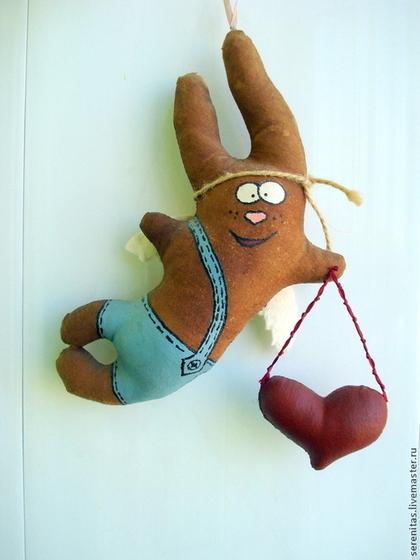 Ароматизированные куклы ручной работы. Ярмарка Мастеров - ручная работа Влюбленный крылатый заяц. Handmade.
