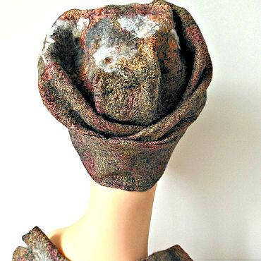 """Одежда ручной работы. Ярмарка Мастеров - ручная работа Шапка валяная розовая """"Поцелуй в розовом"""". Handmade."""