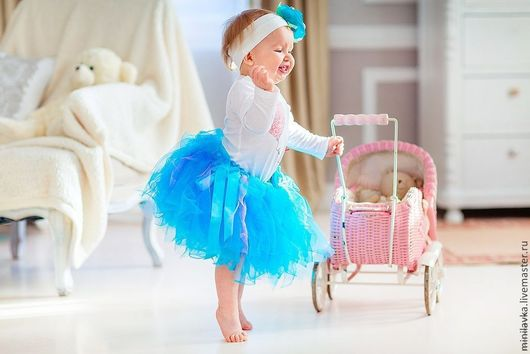 Одежда для девочек, ручной работы. Ярмарка Мастеров - ручная работа. Купить Комплект  для малышки. Handmade. Голубой, фатиновая юбка