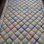"""Для дома и интерьера ручной работы. Ярмарка Мастеров - ручная работа """"Полосатик"""".лоскутное одеяло. Handmade."""