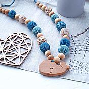 Одежда handmade. Livemaster - original item Slingobusy turquoise with kitenkom. Handmade.