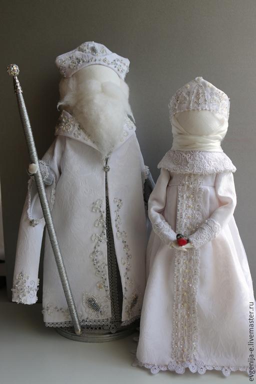 """Дед Мороз и Снегурочка"" Куклы-образы, Народная кукла, Чебоксары,  Фото №1"