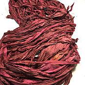 Материалы для творчества ручной работы. Ярмарка Мастеров - ручная работа Шелковые ленты из сари 12 цветов. Handmade.