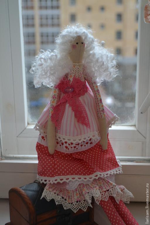 Куклы Тильды ручной работы. Ярмарка Мастеров - ручная работа. Купить Мария. Handmade. Розовый, кукла интерьерная, волосы для кукол