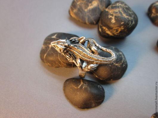 Кольца ручной работы. Ярмарка Мастеров - ручная работа. Купить кольцо игуана. Handmade. Серебряный, кольцо, животные из серебра