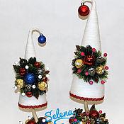 """Цветы и флористика ручной работы. Ярмарка Мастеров - ручная работа Новогодняя елка """"Красотка"""". Handmade."""
