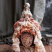 Куклы и пупсы ручной работы. Ярмарка Мастеров - ручная работа Игольница в стиле шебби-шик из антикварной half doll Адель. Handmade.