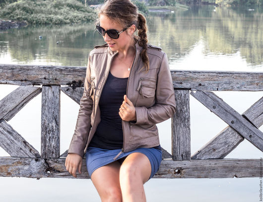 Верхняя одежда ручной работы. Ярмарка Мастеров - ручная работа. Купить Женская кожаная куртка . Куртка из натуральной кожи. Handmade.