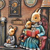 """Для дома и интерьера ручной работы. Ярмарка Мастеров - ручная работа вешалка """"Семейные вечера"""". Handmade."""