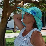Аксессуары ручной работы. Ярмарка Мастеров - ручная работа Вязаная летняя шляпа крючком. Handmade.