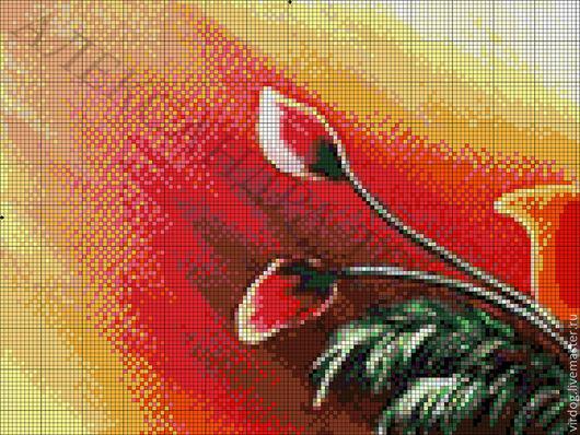 """Вышивка ручной работы. Ярмарка Мастеров - ручная работа. Купить НАБОР ДЛЯ ВЫШИВАНИЯ БИСЕРОМ полиптих """"МАКИ"""" (ЧАСТЬ 1/4). Handmade."""
